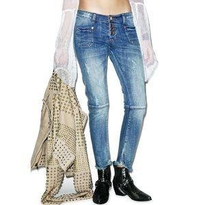 One Teaspoon Super Duper Jeans in Pure Bleu 26